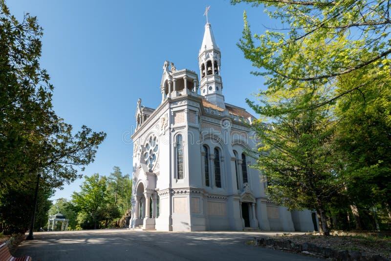 De kerk van La Salette royalty-vrije stock afbeelding
