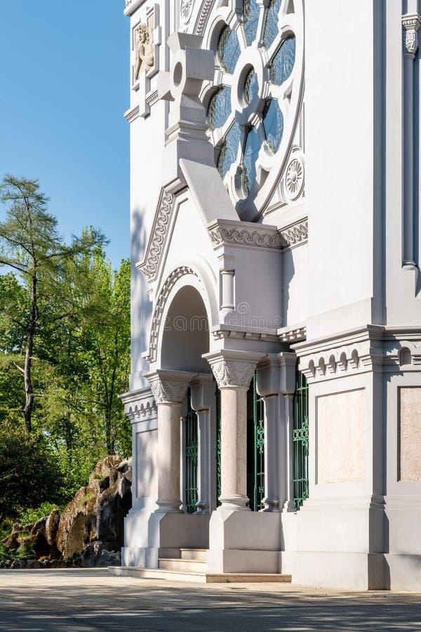 De kerk van La Salette royalty-vrije stock afbeeldingen