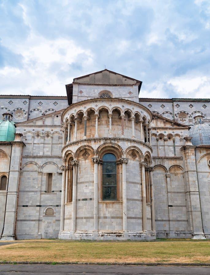 De kerk van Luca, Italië Duomo Di San Martino in oud deel van deze stad in Italië stock afbeeldingen