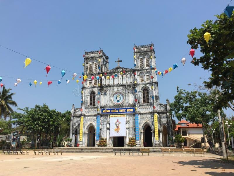 De kerk van Manglang in Phu-Yen, Vietnam stock fotografie
