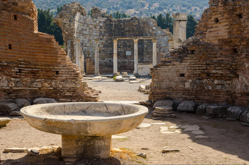 De Kerk van Mary in Ephesus, Turkije royalty-vrije stock fotografie