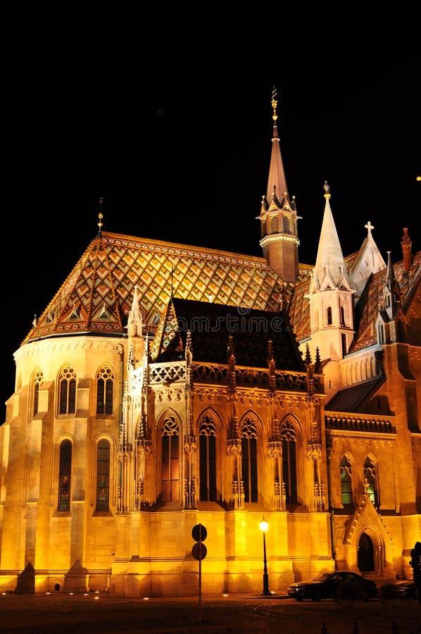 De kerk van Matthias in Boedapest royalty-vrije stock foto's