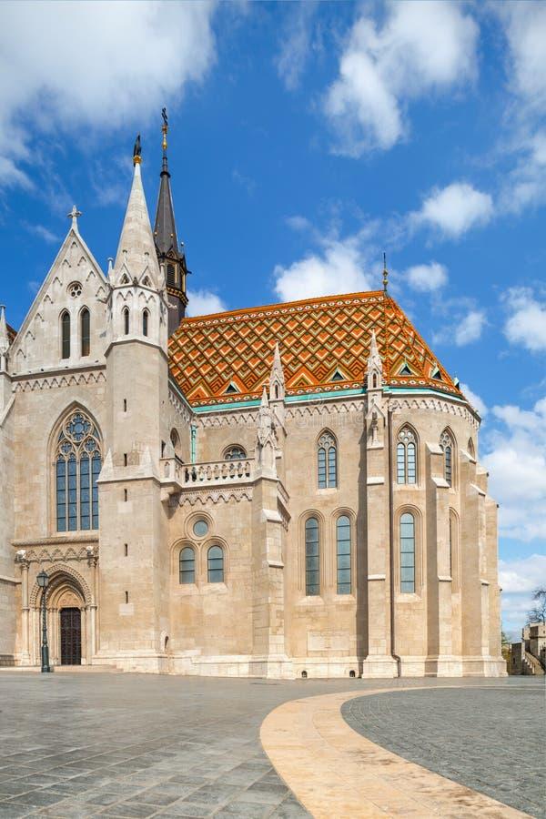 De kerk van Matthias in Boedapest, Hongarije royalty-vrije stock foto's