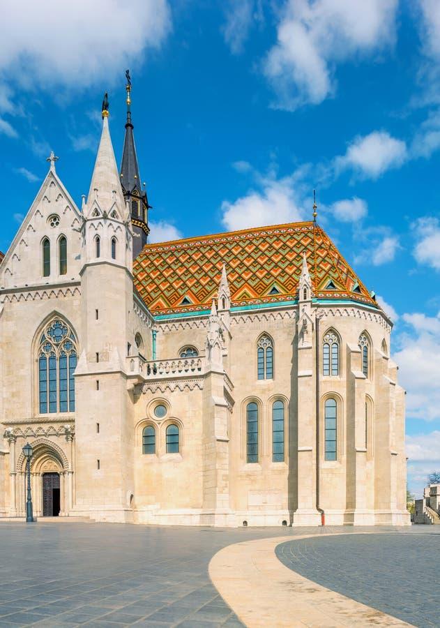 De kerk van Matthias in Buda Castle-district, Boedapest, Hongarije royalty-vrije stock afbeeldingen