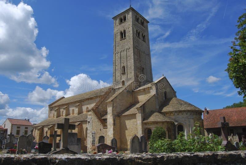 De kerk van Medieaval in Frankrijk stock foto's