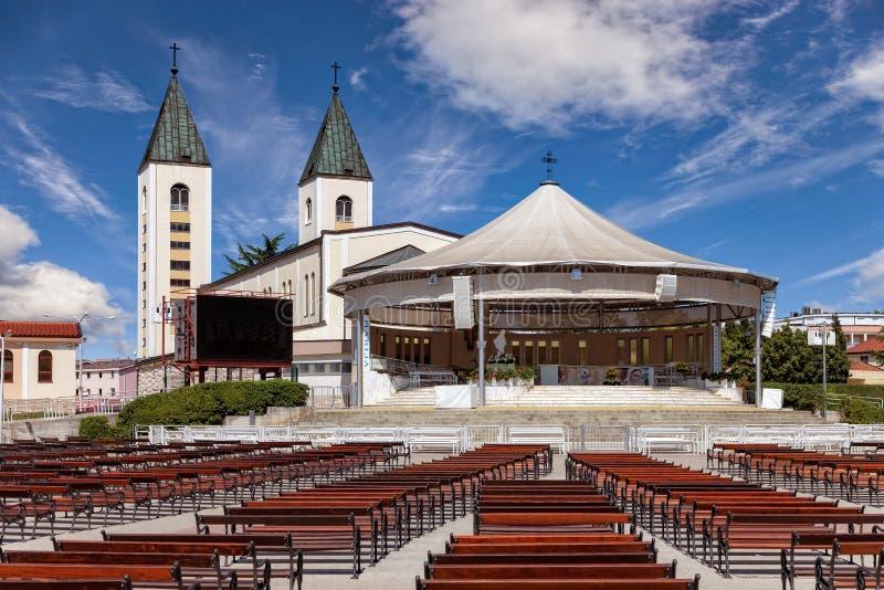 De kerk van Medugorje royalty-vrije stock afbeeldingen