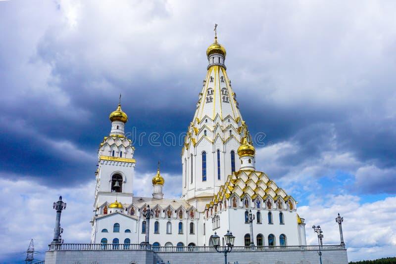 De Kerk van Minsk van Alle Heiligenweergeven stock foto's