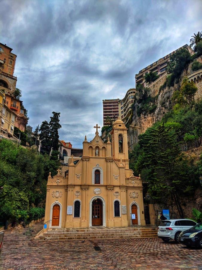 De kerk van Monte Carlo royalty-vrije stock foto's