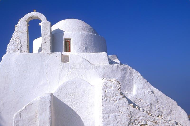 De Kerk van Mykonos stock foto's