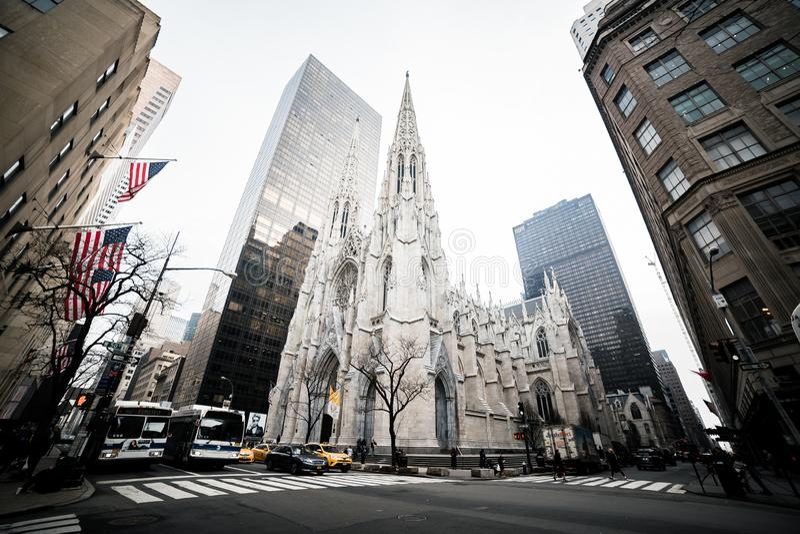 De Kerk van New York St Patrick stock fotografie