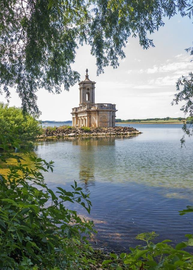 De kerk van Normanton op Water Rutland royalty-vrije stock afbeeldingen