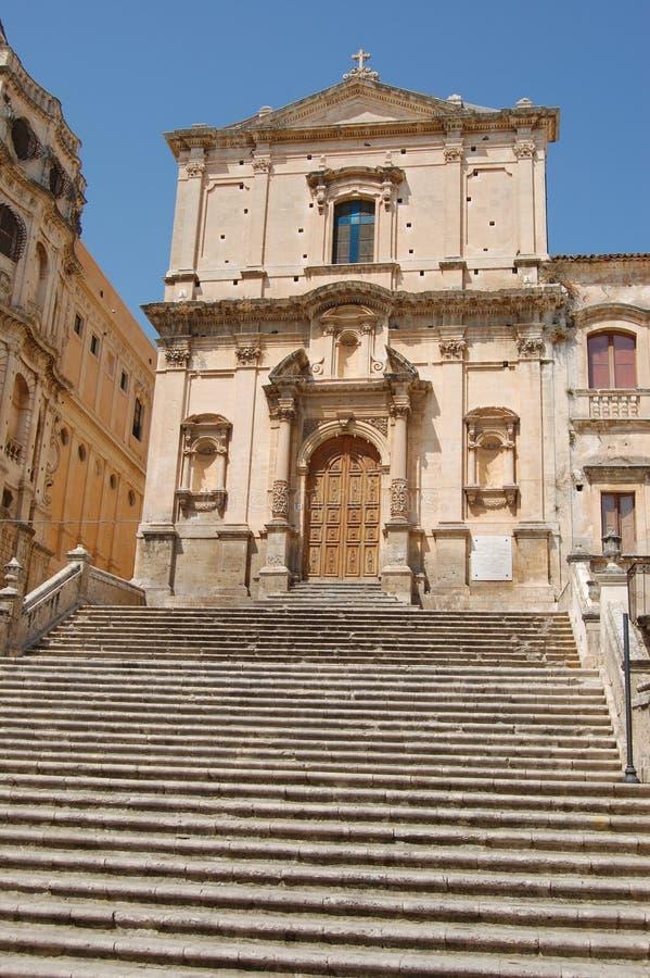De kerk van Noto stock afbeelding