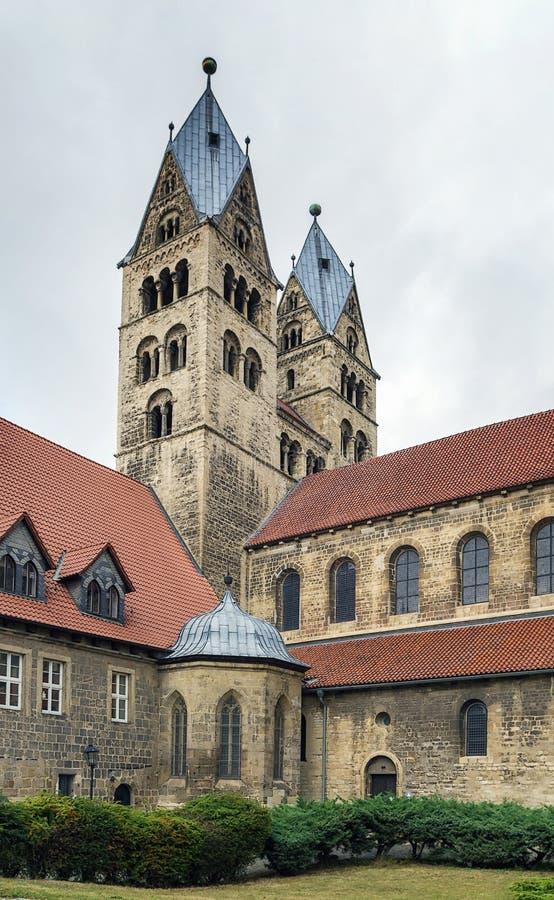 De Kerk van Onze Dame in Halberstadt, Duitsland royalty-vrije stock afbeelding