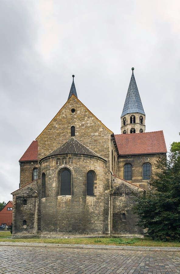 De Kerk van Onze Dame in Halberstadt, Duitsland royalty-vrije stock foto's