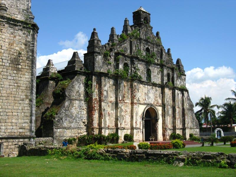 De Kerk van Paoay stock afbeelding