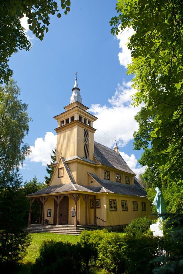 De kerk van Pavilnys in Vilnius, Litouwen stock afbeeldingen