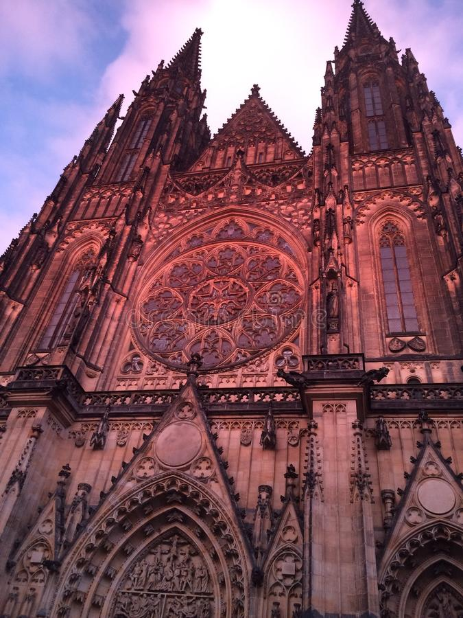 De kerk van Praag royalty-vrije stock afbeelding