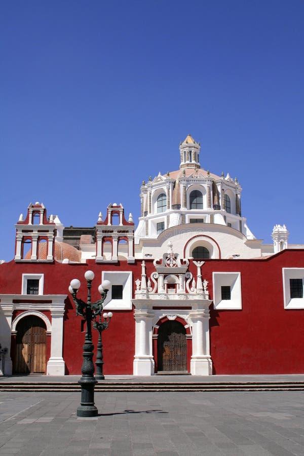 De kerk van Puebla stock afbeelding