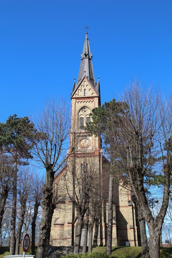 De Kerk van Riga Luter stock afbeelding