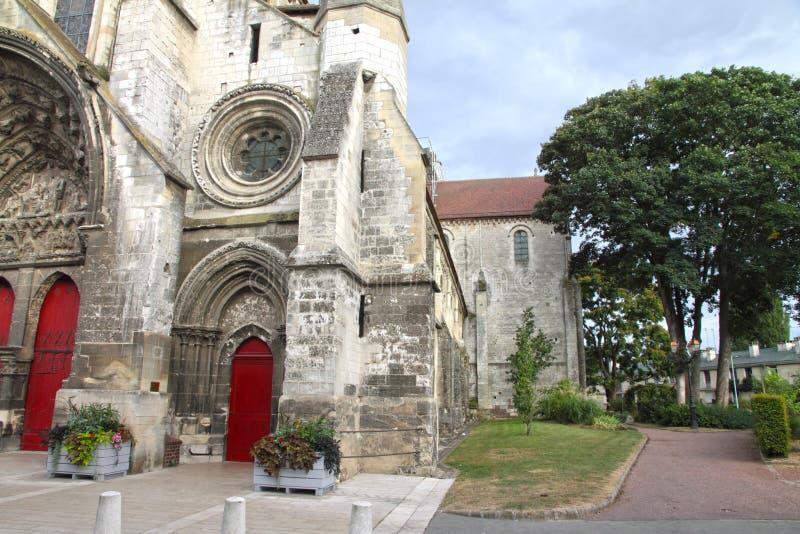 De kerk van Saint-Etienne, Beauvais, Oise, Frankrijk stock foto's
