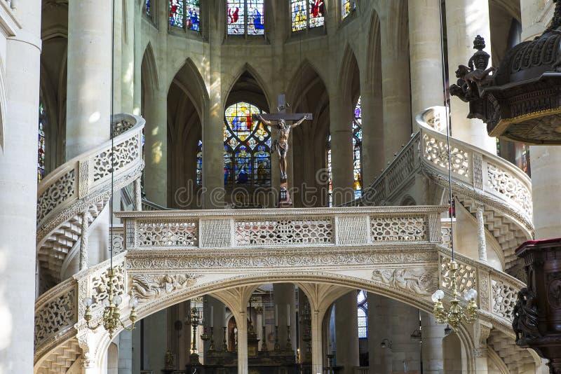 De kerk van Saint-Etienne du mont, Parijs, Frankrijk royalty-vrije stock foto
