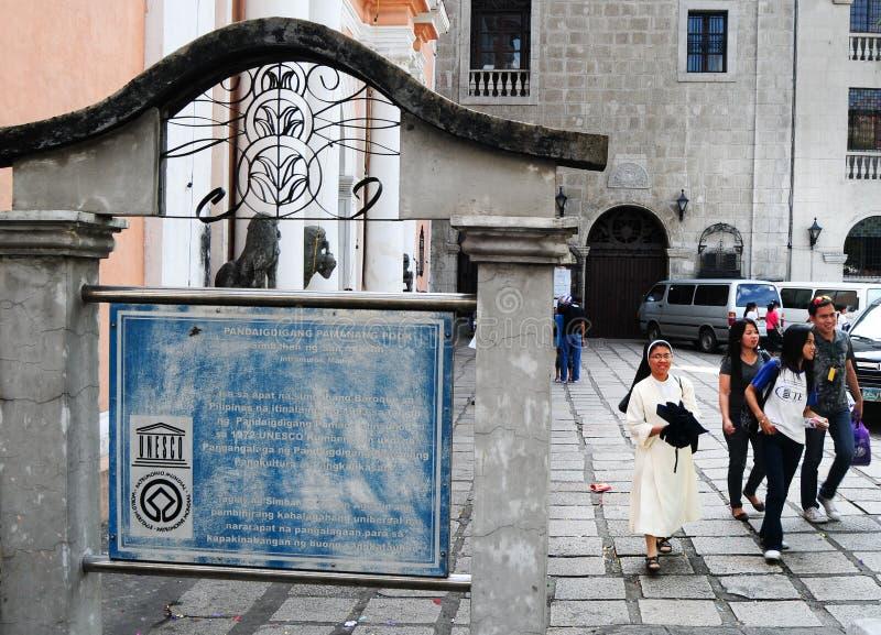 De kerk van San Agustine in Manilla stock foto