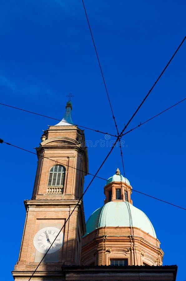 De kerk van San Bartolomeo, Bologna, Emilia Romagna, Italië stock foto's