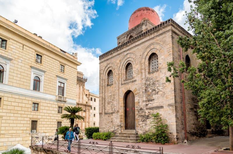De kerk van San Cataldo, is een Katholieke die kerk bij Bellini-vierkant in centraal Palermo wordt gevestigd royalty-vrije stock foto's