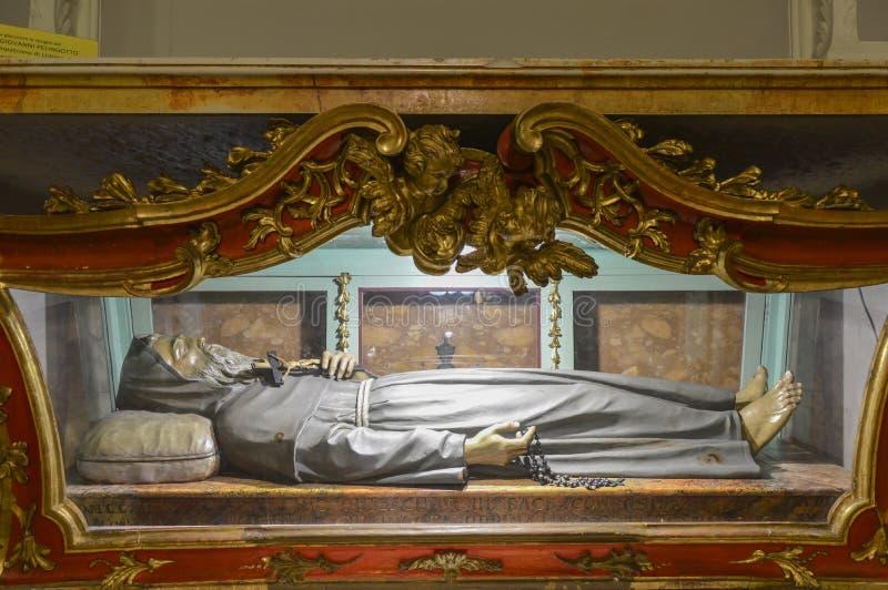 De kerk van San Francesco, Urbino, Italië stock afbeelding