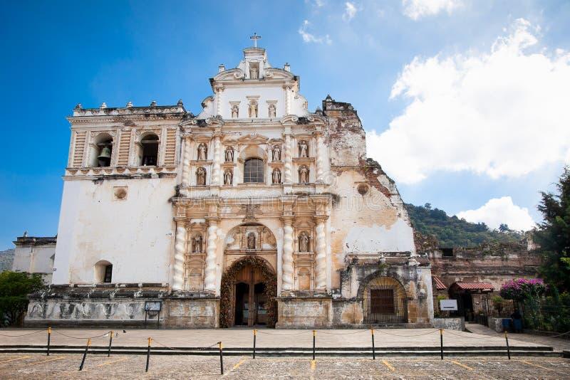 De Kerk van San Francisco in Antigua, Guatemala royalty-vrije stock afbeelding