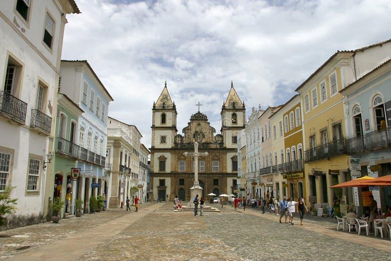 De kerk van San Francisco in Salvador Bahia royalty-vrije stock foto's