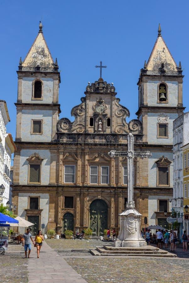 De kerk van San Francisco in Salvador Bahia op Brazilië royalty-vrije stock afbeelding