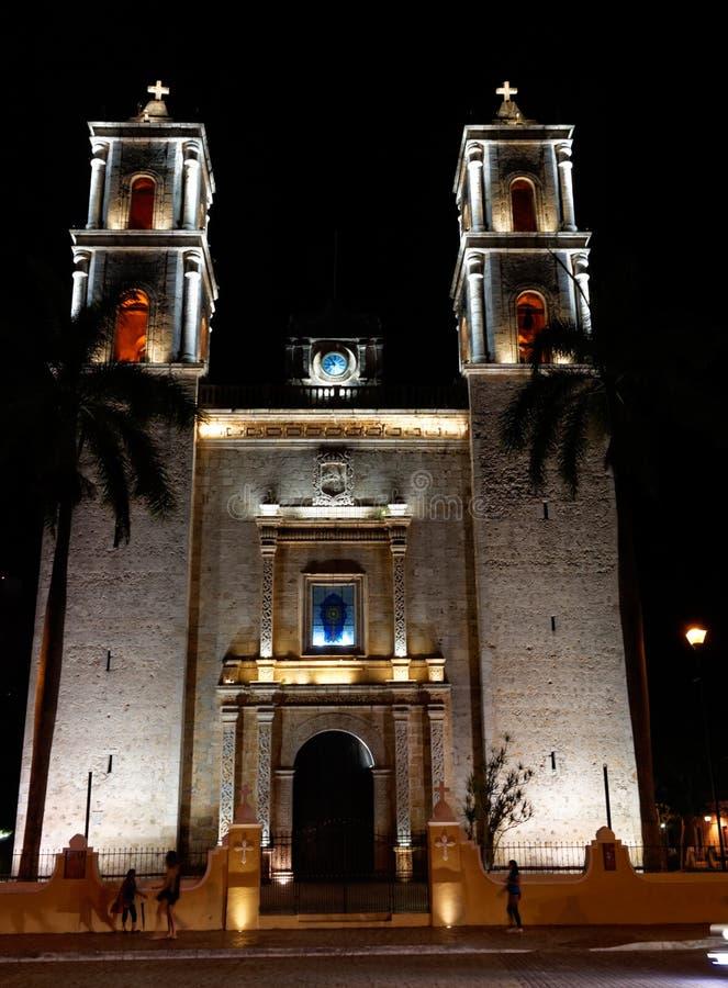 De kerk van San Gervasio in Valladolid, Mexico royalty-vrije stock foto's