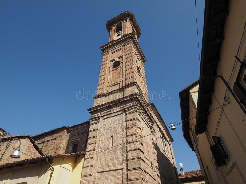 De kerk van San Giuseppe in Alba stock fotografie
