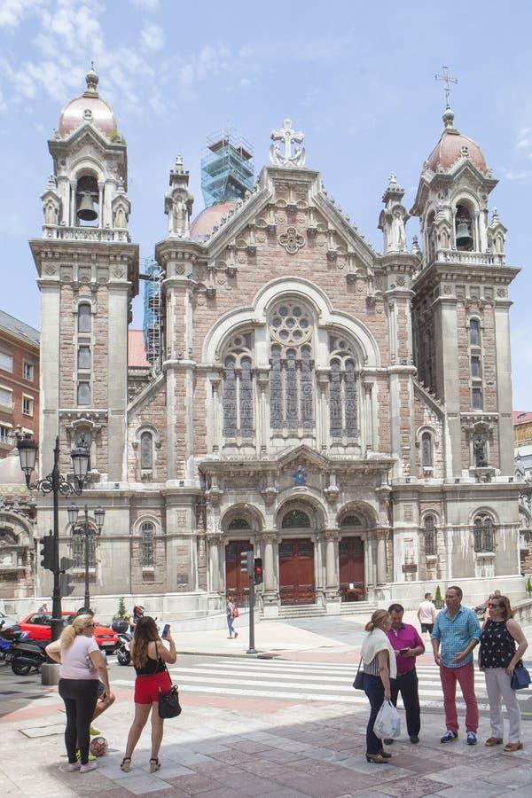 De kerk van San Juan el Real, Oviedo royalty-vrije stock foto