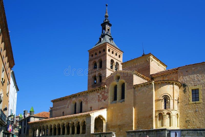 De kerk van San Martin, Segovia royalty-vrije stock afbeelding
