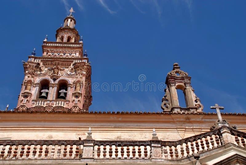 De kerk van San Michael in Jerez DE los Caballeros, Extremadura - Spanje stock fotografie