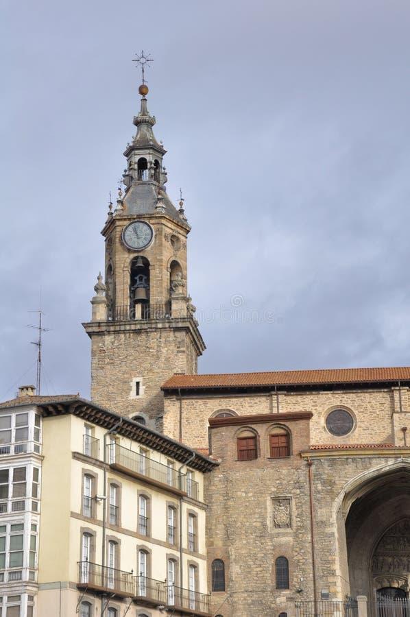 De kerk van San Miguel, Vitoria (Spanje) royalty-vrije stock afbeelding