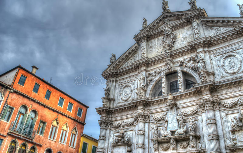 Download De kerk van San Moisè stock foto. Afbeelding bestaande uit italië - 54075640