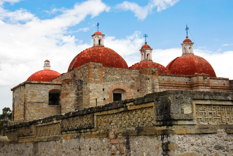 De kerk van San Pablo, Mitla royalty-vrije stock foto