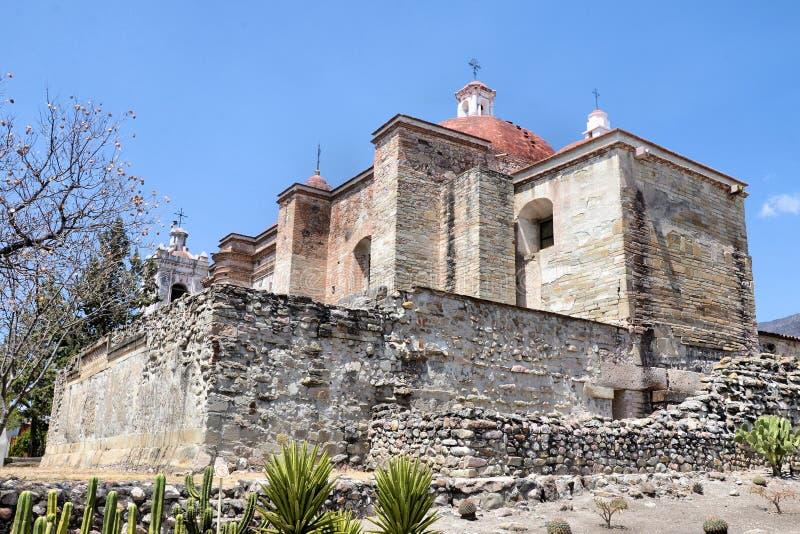 De kerk van San Pablo, Mitla royalty-vrije stock fotografie