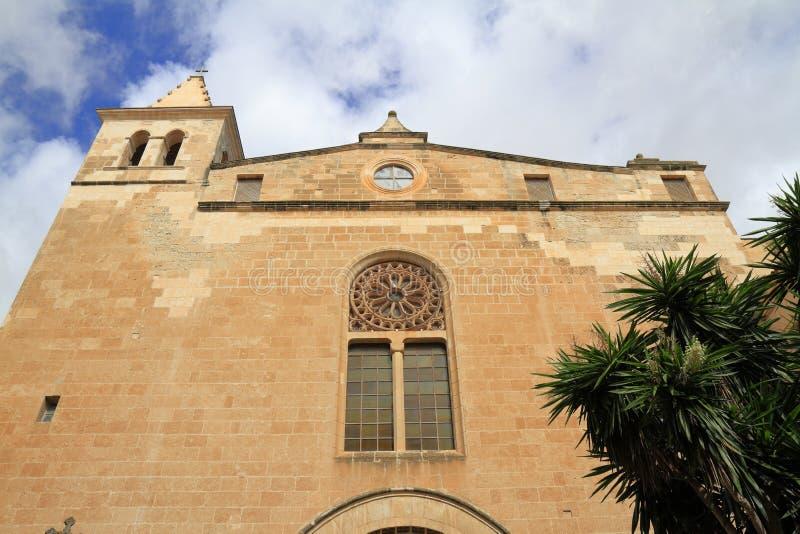 De Kerk van San Vicente Ferrer in Manacor, Mallorca, Spanje stock fotografie