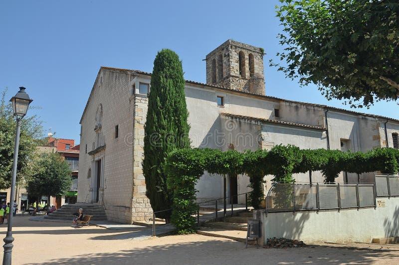 De kerk van Santesteve, Spanje royalty-vrije stock foto