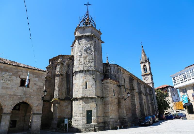 De kerk van Santiago in Betanzos, Galicië stock afbeelding