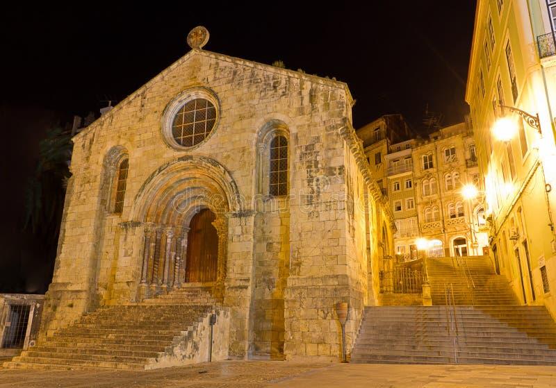 De Kerk van Santiago van Coimbra, Portugal stock afbeeldingen