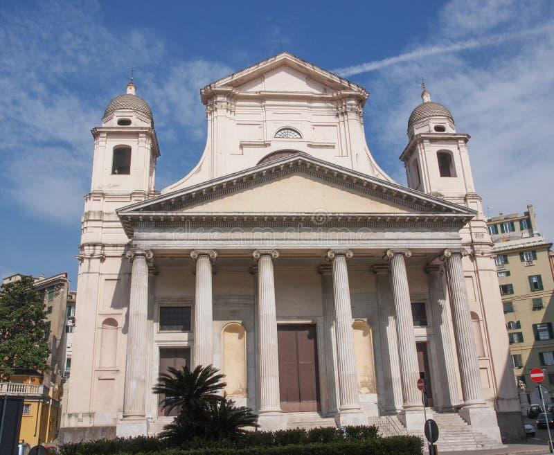 Download De Kerk Van Santissimaannunziata In Genoa Italy Stock Afbeelding - Afbeelding bestaande uit katholiek, rococo: 39114745
