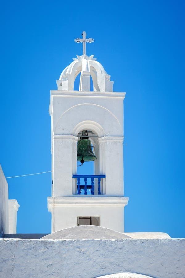 De kerk van Santorini royalty-vrije stock foto