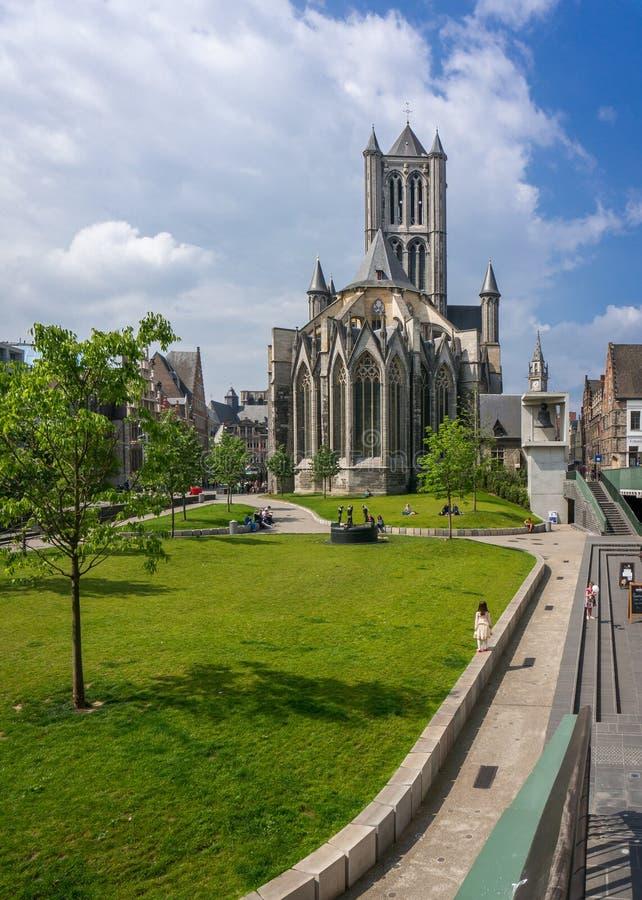De Kerk van Sinterklaas, Gent royalty-vrije stock afbeelding