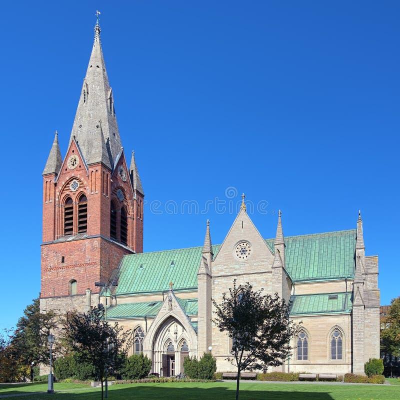 De Kerk van Sinterklaas in Orebro, Zweden royalty-vrije stock foto's