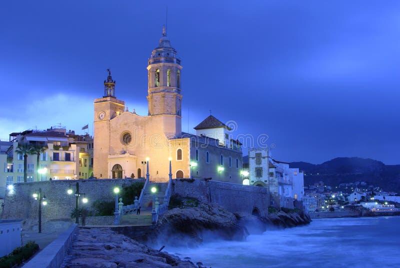De kerk van Sitges royalty-vrije stock fotografie